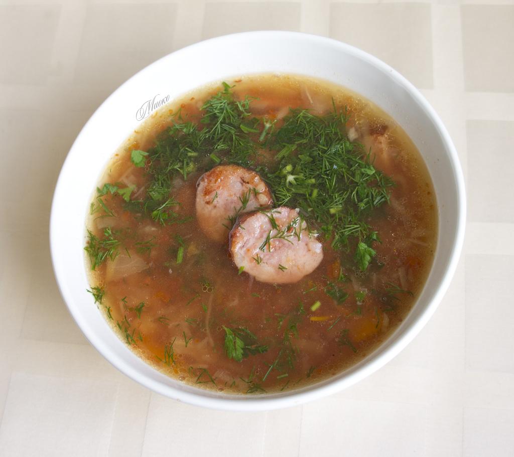 куриный суп рецепт с квашеной капустой
