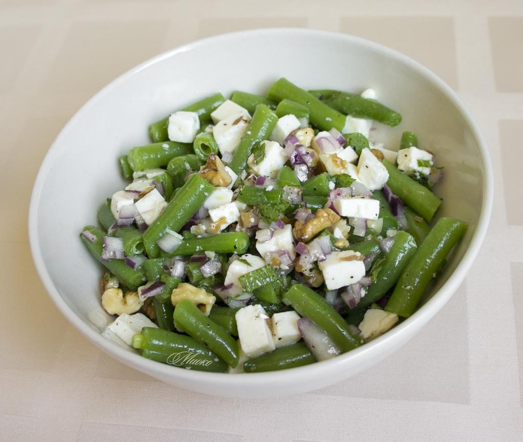 Салат из стручковой фасоли картинки