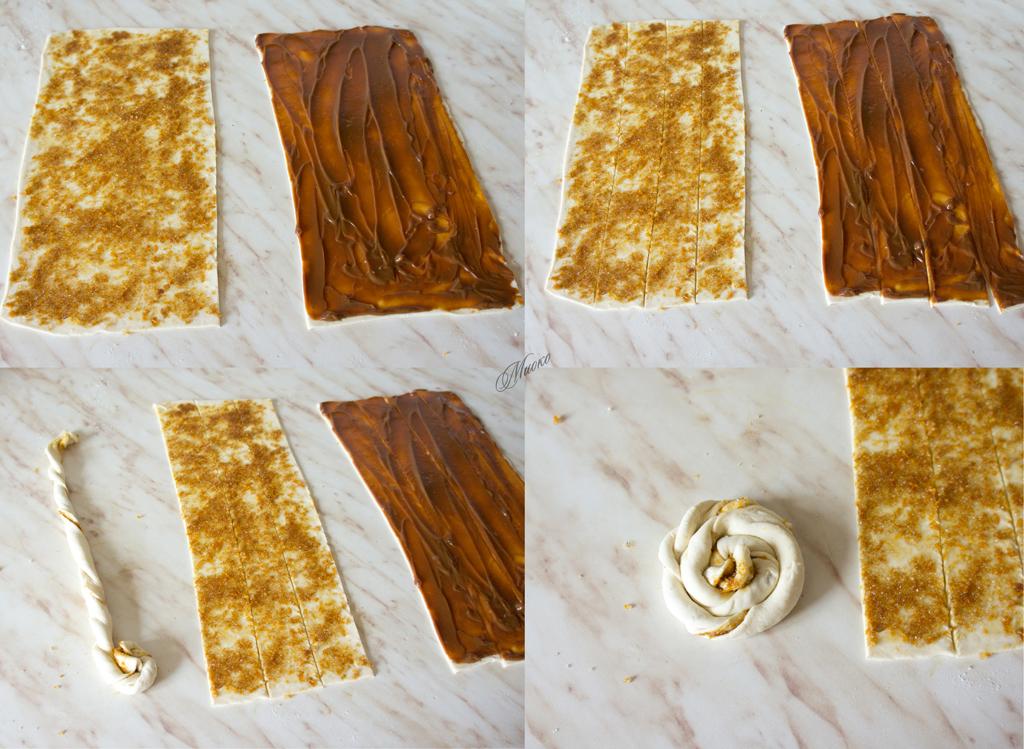 Слоеное тесто со сгущенкой вареной