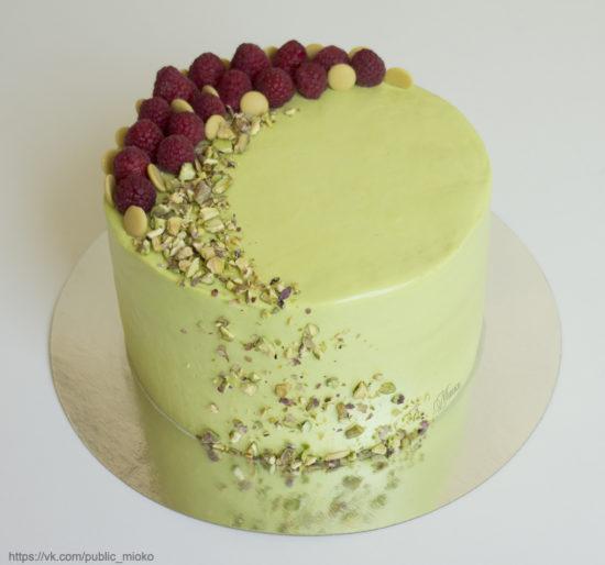 Торт Фисташка-малина (клубника)