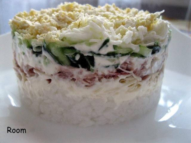 Салат с тунцом и рисом рецепт