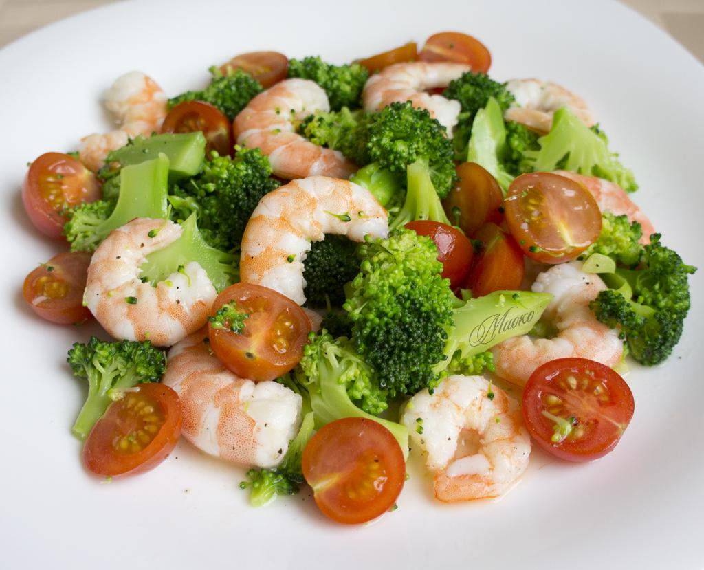 Салат из морепродуктов при похудении