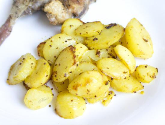 Запечённый картофель с горчицей