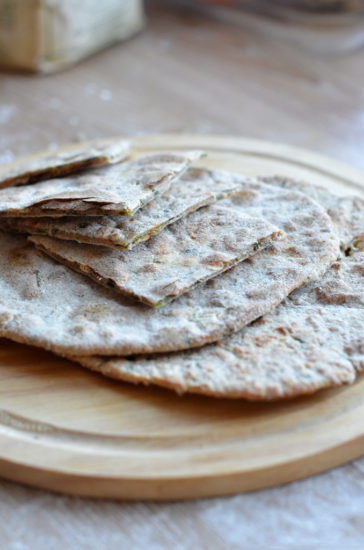 Лепешки «По спирали» с сыром и творогом