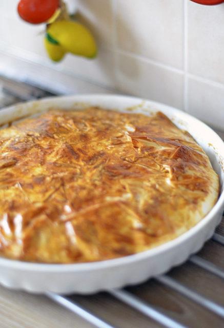 Пирог с сыром и болгарским перцем (тесто фило)