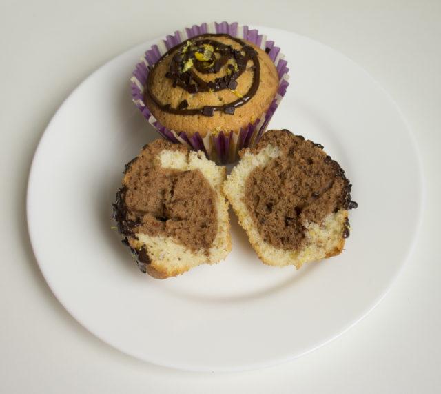 Шоколадно-лимонные мраморные кексы