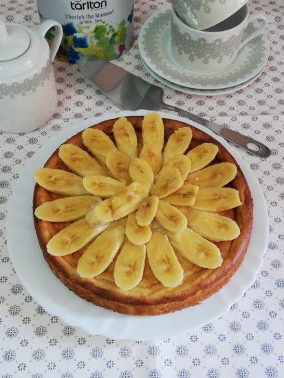 Бананово-творожный пирог