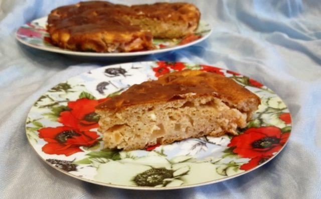 Пирог на творожном тесте «Три муки»