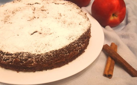 Португальский шоколадный пирог с яблоками