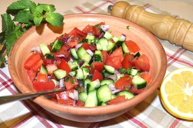 Salad-e Shirazi — иранский салат «Ширази»