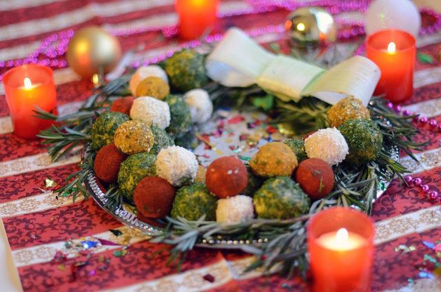 Новогодняя закуска «Рождественский венок»