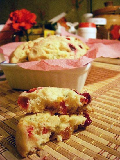 Печенье с цукатами и клюквой (без яиц)