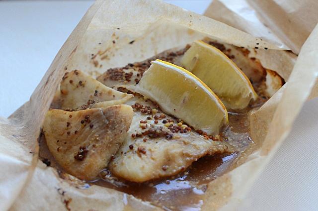 Рыба с соусом из дижонской горчицы