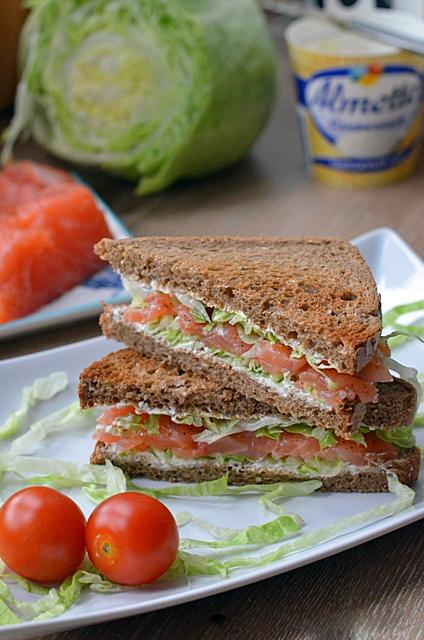 Весенние сэндвичи с семгой
