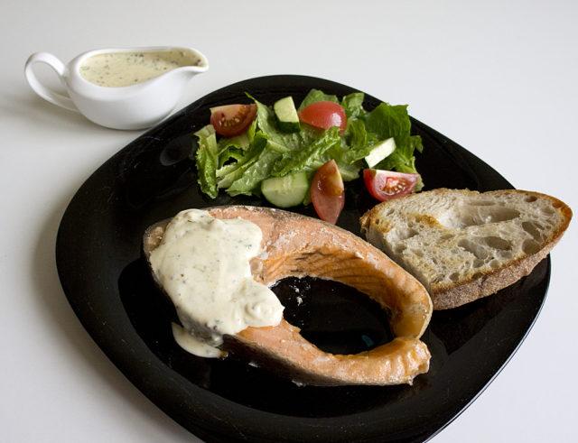 Сливочно-горчичный соус к рыбе