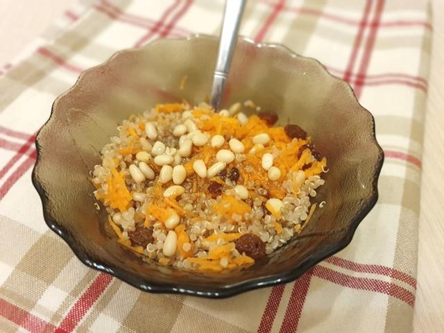 Морковный салат с киноа (кускусом)
