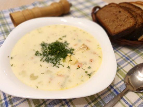 Молочный суп с рыбой по-эстонски